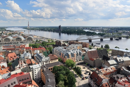 Top view of the city, Riga  Latvia