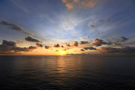 Scenic view of sunrise in Atlantic Ocean photo