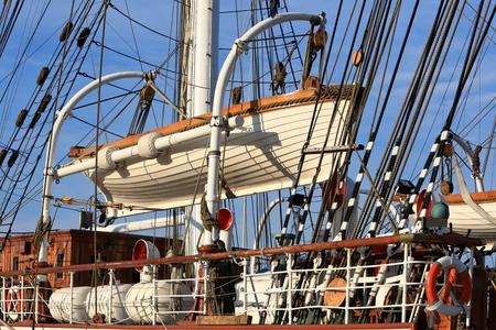 lifeboat: Lifeboat on a sailing ship Stock Photo