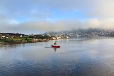 alesund: View of the city in the morning light, Alesund (Norway) Stock Photo