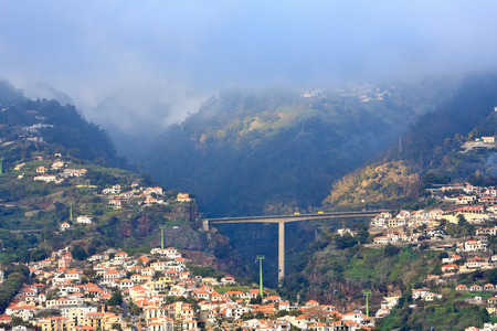 brige: Scenic view of Funchal in sunset light, Madeira Island (Portugal)