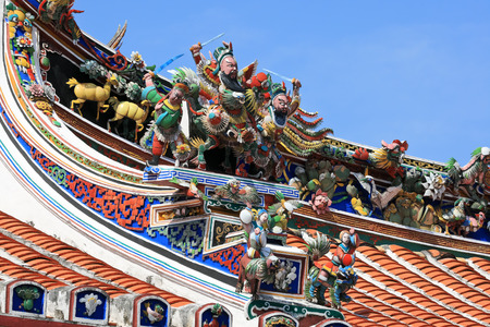 Details design of ancient Chinese temple, Malacca - Malaysia