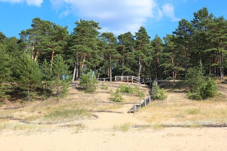 White Dune Balta Kapa on the Baltic sea, Saulkrasti -  Latvia Stock Photo