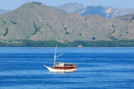 Landscape with the passenger boat, Komodo island - Indonesia