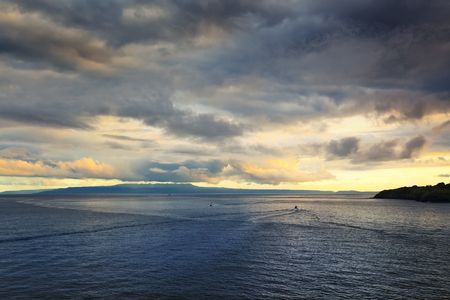 Sunset on the island of Bali, Indonesia Stock Photo
