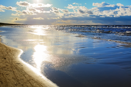 Autumn landscape on the Baltic Sea, Lielupe - Jurmala - Latvia