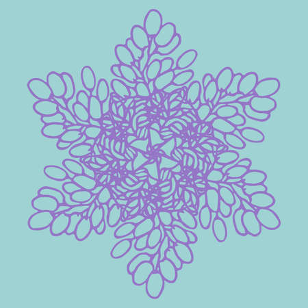Ornament of grapes. Round pattern. Vector illustration.