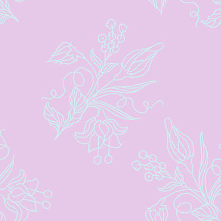 Beatiful flower. Vector seamless pattern.Seamless pattern can be used for wallpaper, pattern fills, web page background, surface textures.
