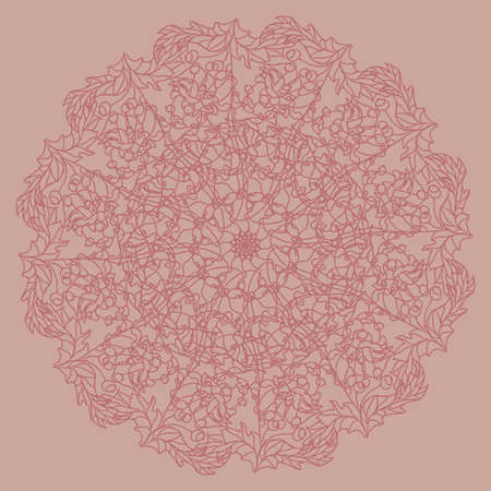 Ornament flower. Round pattern. Mandala. Vector illustration.