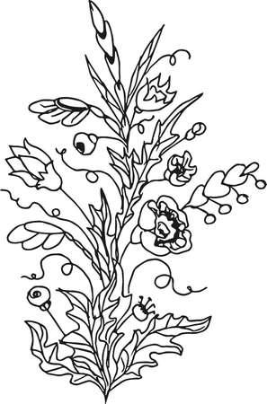 Flower bouquet.Vector illustration. Vettoriali