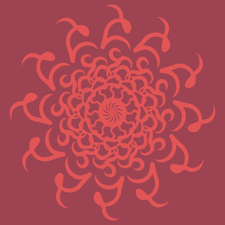 Fire abstraction. Round pattern. Ornament. Mandala. Vector illustration