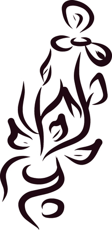 Floral pattern vector illustration. Can be used to create a tattoo.