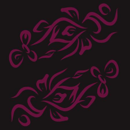 Double pattern. Vector illustration.