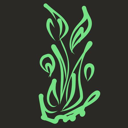 Leaf pattern. Vector illustration.