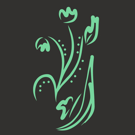 Pattern bloom. Invitation, t-shirt print. Tattoo element.Vector illustration.