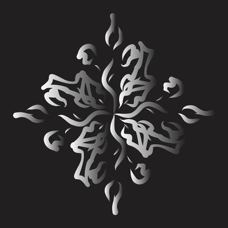Ornament. Round pattern. Flowers. Mandala. T-shirt print.Vector illustration.