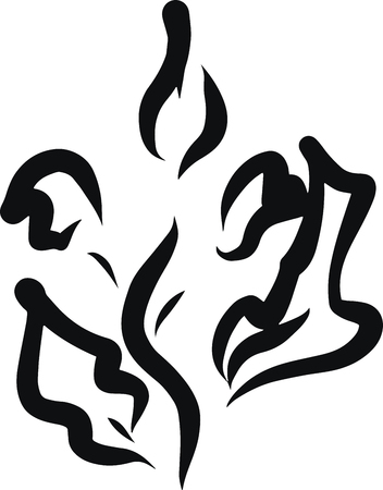 Abstraction. Invitation, t-shirt print. Tattoo element.Vector illustration.