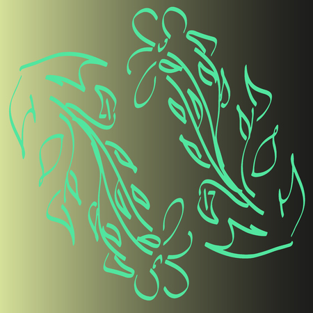 Card. Invitation, t-shirt print. Tattoo element.Vector illustration. Vettoriali