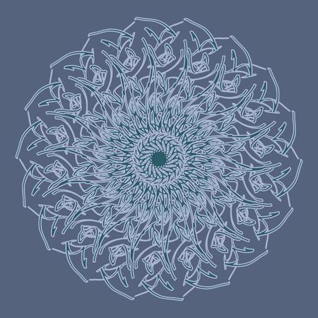 Lacy mandala. Invitation, t-shirt print. Tattoo element. Vector illustration.