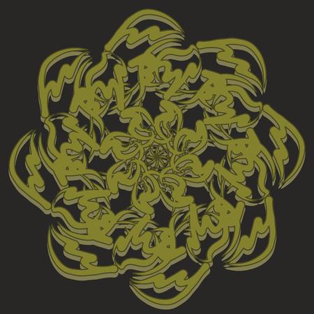 Mandala. Invitation, t-shirt print. Tattoo element. Vector illustration.