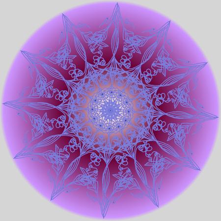 Colorful watercolor mandala. Round pattern. Ornament. Flowers. Invitation, t-shirt print. Tattoo element.Vector illustration.