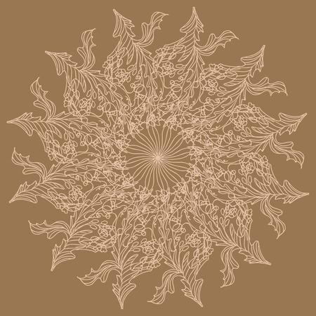 Beautiful lace napkin. Mandala. Invitation, t-shirt print. Tattoo element. Vector illustration. Stock fotó - 106830222