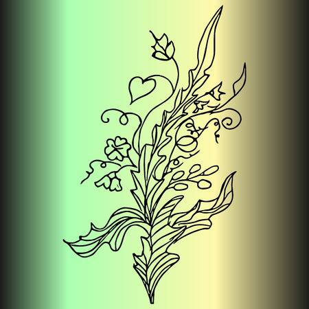 Abstract pattern. Invitation, t-shirt print. Tattoo element.Vector illustration.