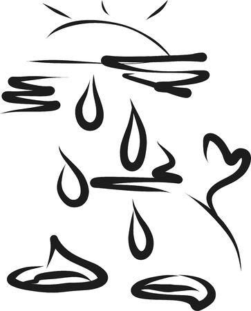 Rain vector illustration