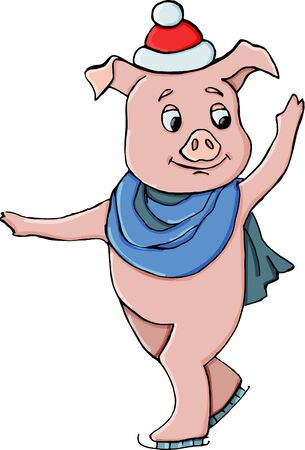 Pig vector illustration. Symbol Of New Year.