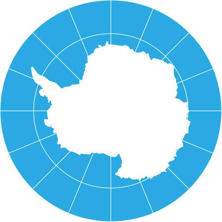 antartide: Mappa vettoriale di Antartide-meridionale continente della terra