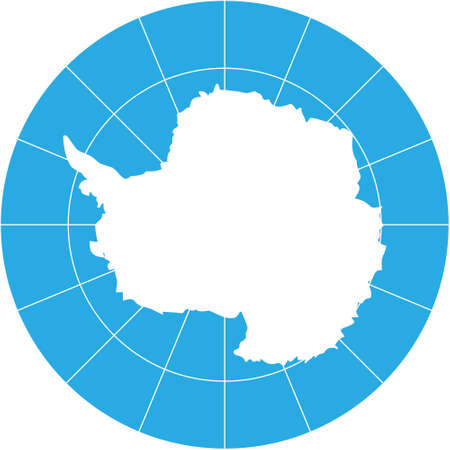 Vecteur carte de l'Antarctique sud-continent de la Terre Vecteurs