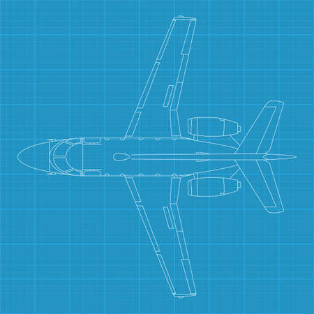 offense: high detailed vector illustration of modern civil airplane