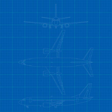 High detailed vector illustration of modern civil airplane Stock Vector - 12498378