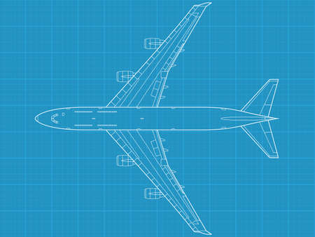 high detailed vector illustration of modern civil airplane  Vector