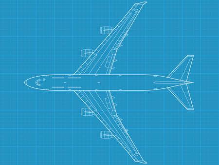 invader: high detailed vector illustration of modern civil airplane