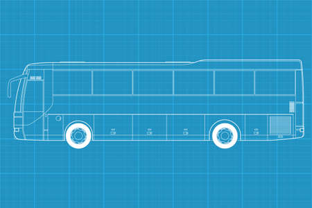 High detailed vector illustration of a passenger bus - side view Stock Vector - 12498366