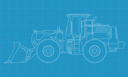 bulldozer: High detailed vector illustration of a bulldozer