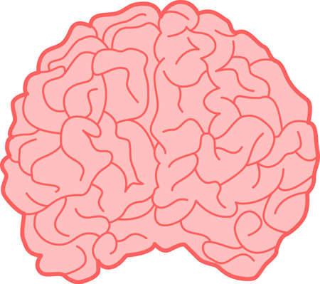 Abstract illustration of a human brain Vector