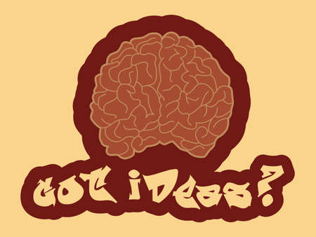 Got ideas  Abstract illustration of a human brain  Vector