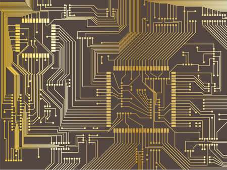 Illustrazione di un circuito stampato Vettoriali