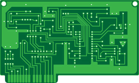 illustration of a printed circuit board  Vector
