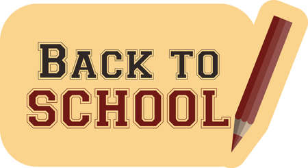 a pen and text Back to school Vector