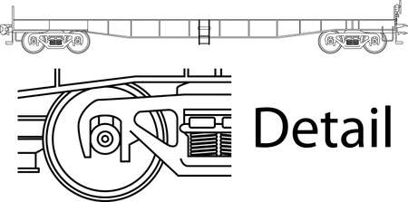 car railway wagon - side view  Stock Vector - 14988487