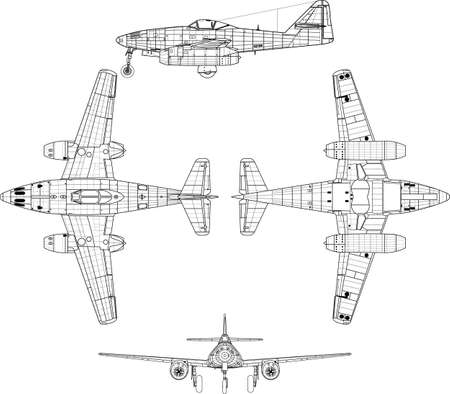 old military airplane  Stock Vector - 14988482