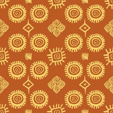 south american: Native American seamless pattern