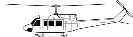 modern helicopter  - side view