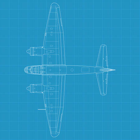 High detailed illustration of old military airplane Stock Vector - 15125877