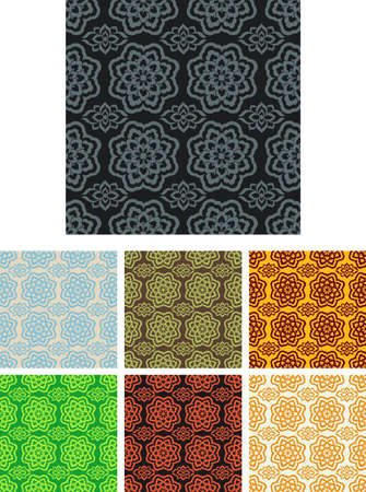 tapis: seamless pattern pack with seven colors themes
