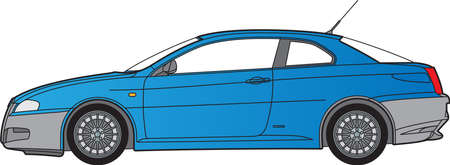 Detailed vector illustration of a blue car Stock Vector - 16240605