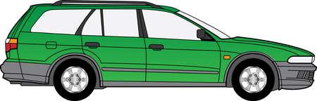 Detailed vector illustration of a green car Stock Vector - 16240620